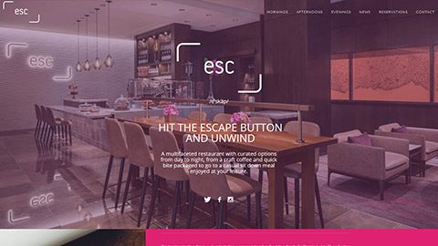 ESC Restaurant Website for FS Hotel in Palo Alto