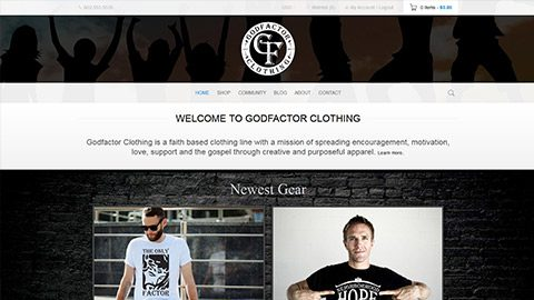 Christian Clothing Brand and E-Commerce Website