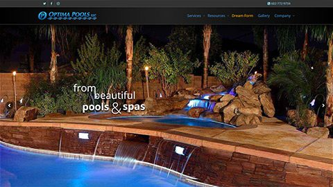 Optima Pools – Arizona Pool Contractor Website