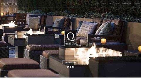 Q Restaurant Website for FS Hotel in Palo Alto