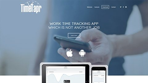 TimeTapr Website and Cross Platform Mobile App