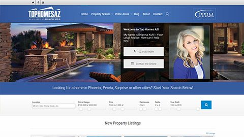 Real Estate Agent Website with Arizona MLS